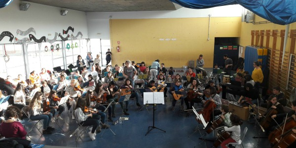 Assaig orquestra integrada 1